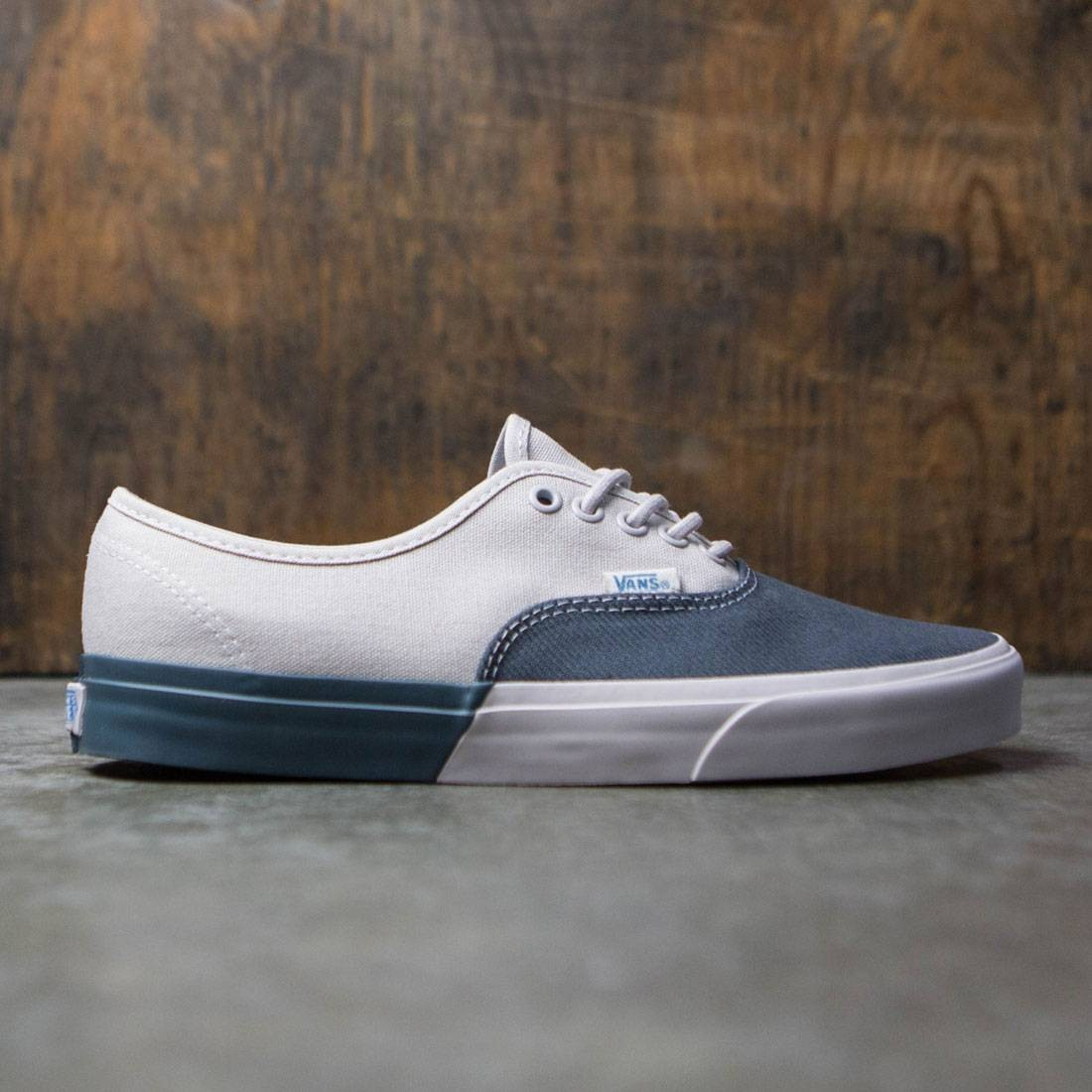 grey and white vans