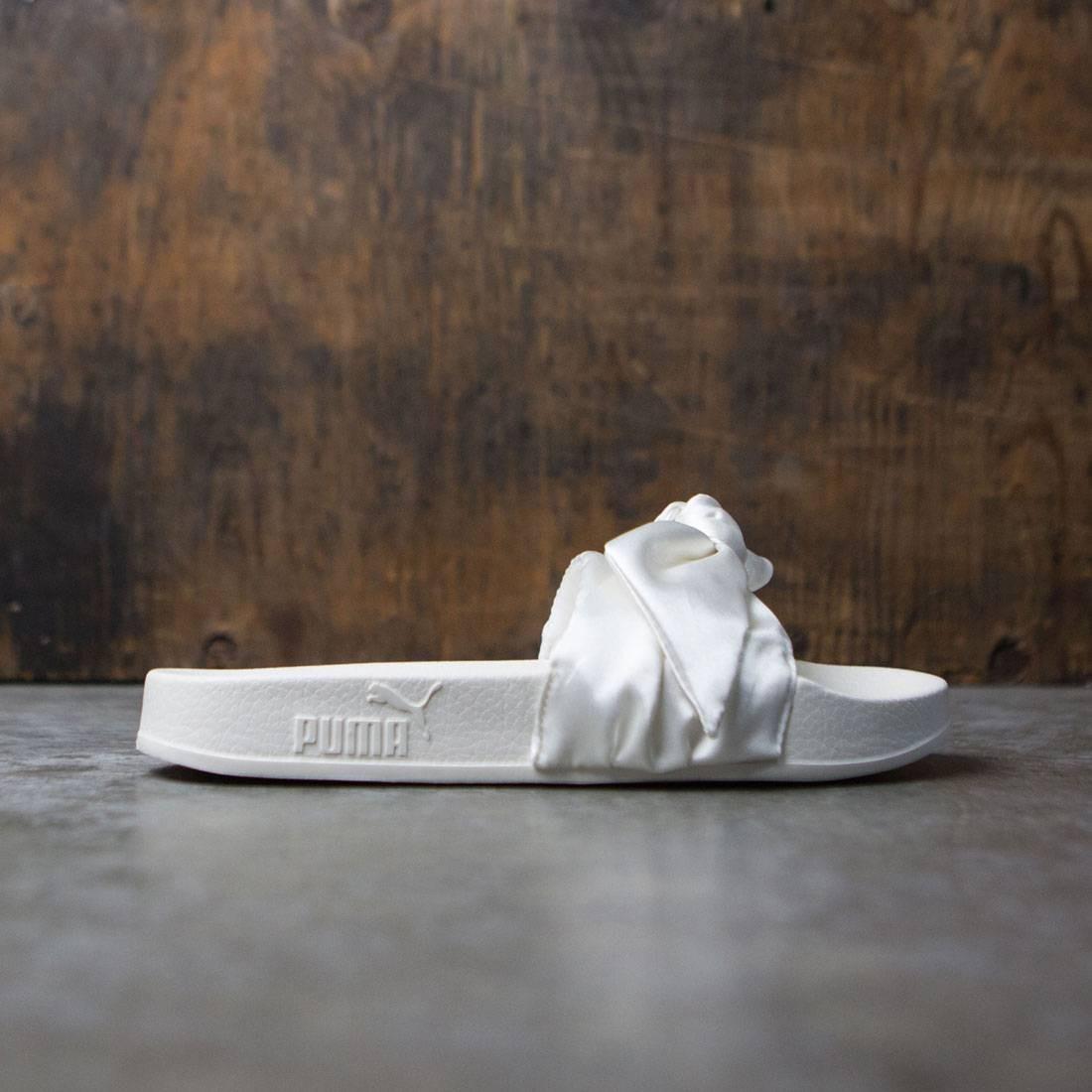 watch 81e3b cc906 Puma x Fenty By Rihanna Women Bow Slides (white / silver)