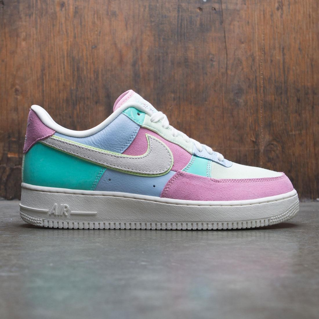 Nike Men Air Force 1 '07 Qs - Spring Patchwork (ice blue / sail-hyper turq-barely volt)