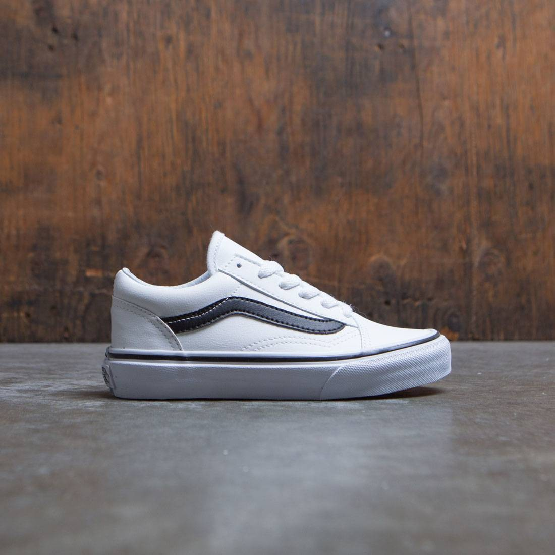 Vans Little Kids Old Skool (white / black)
