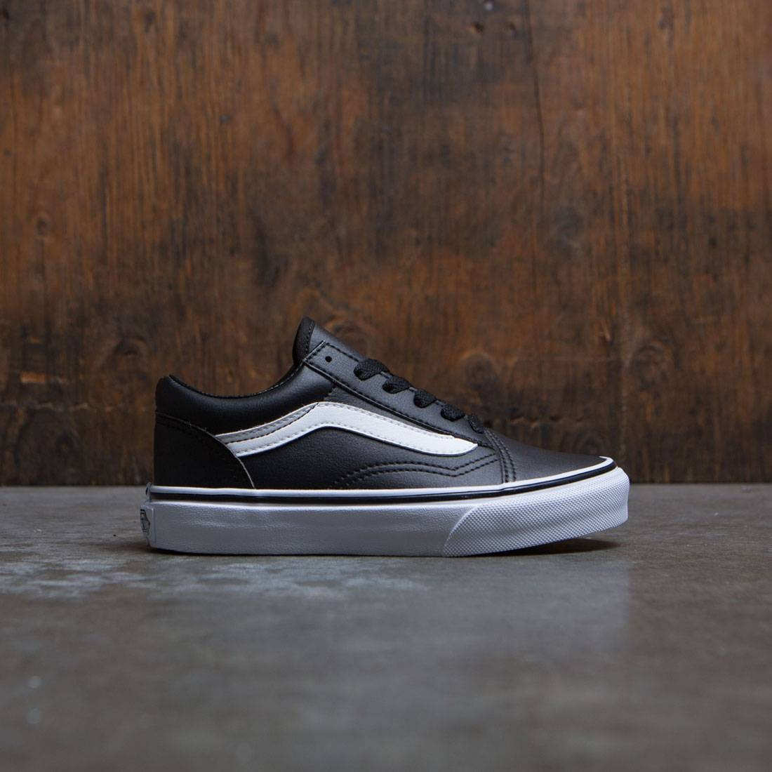 Vans Little Kids Old Skool (black / true white)