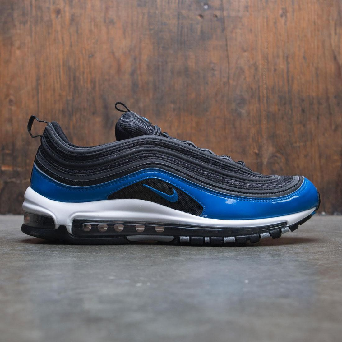 big sale 60b55 0215d nike men air max 97 black blue nebula wolf grey white
