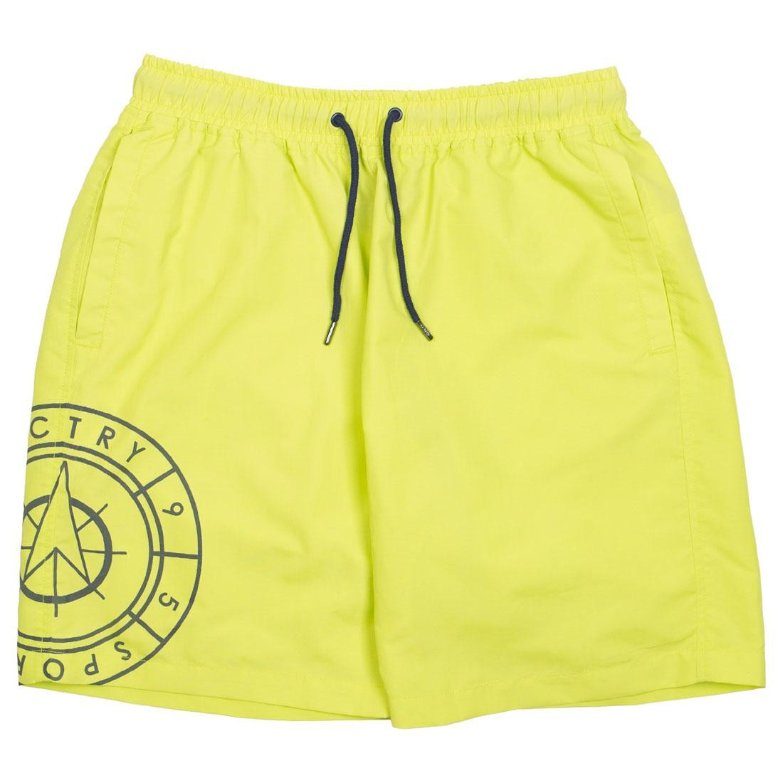 10 Deep Men Navigator Nylon Shorts (green / acid)
