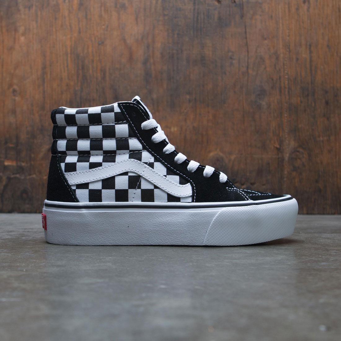 c750f8d471 Vans Women SK8-Hi Platform 2 black checkerboard