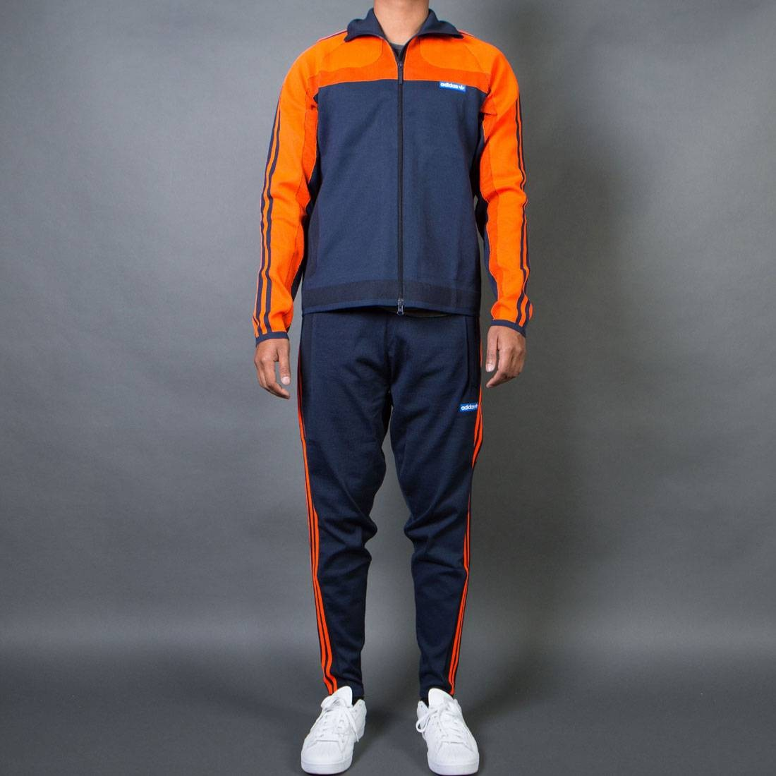 fde7130db98c9 Adidas Men Knitted Tracksuit orange bold orange legend ink