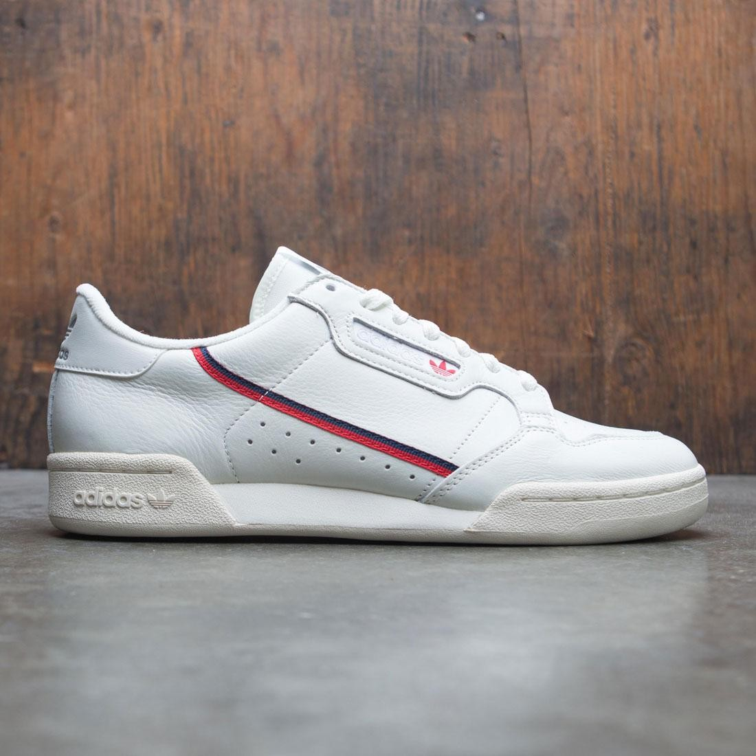 adidas Originals Continental 80 Rascal white tint off white scarlet