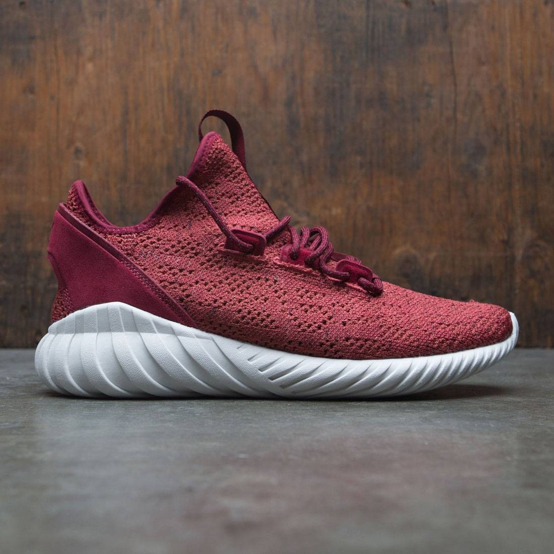 1bb5d75b Adidas Men Tubular Doom Sock Primeknit red mystery red collegiate burgundy  crystal white