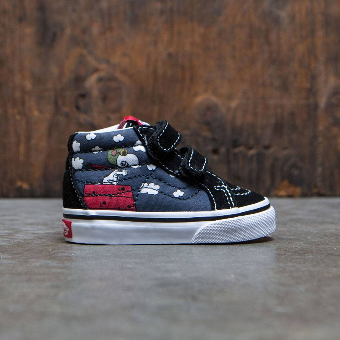 Vans x Peanuts Toddlers Sk8-Mid Reissue V - Flying Ace (black)