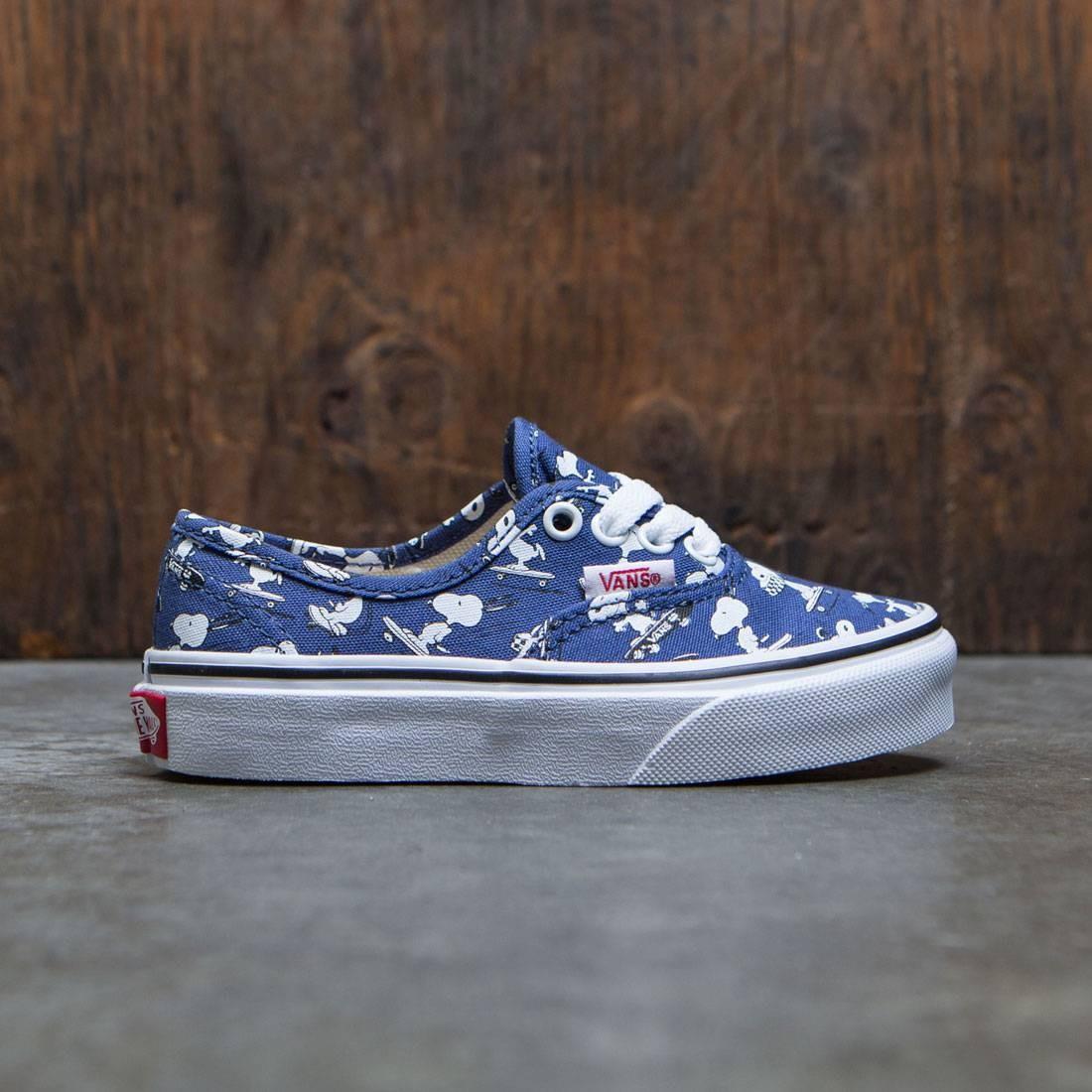 Vans x Peanuts Big Kids Authentic - Snoopy Skating (blue)
