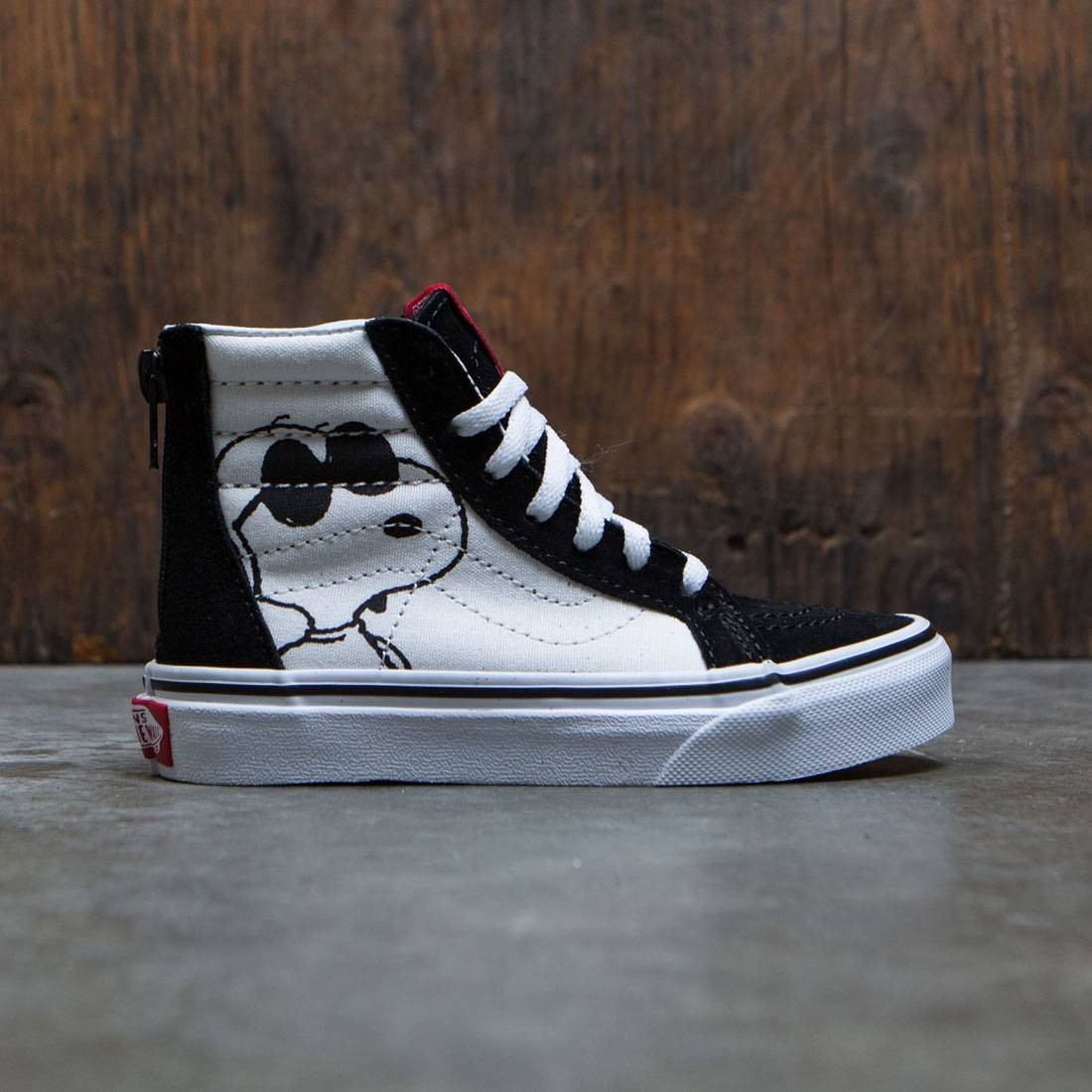 Vans x Peanuts Big Kids Sk8-Hi Zip - Joe Cool black 0725d54d64c9