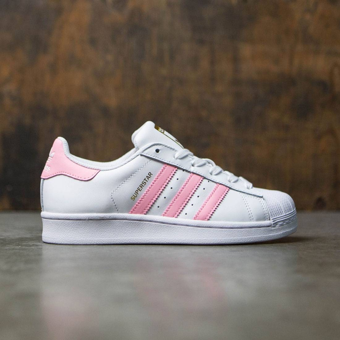 fae2fc33de01 Adidas Women Superstar white clear light pink gold metallic