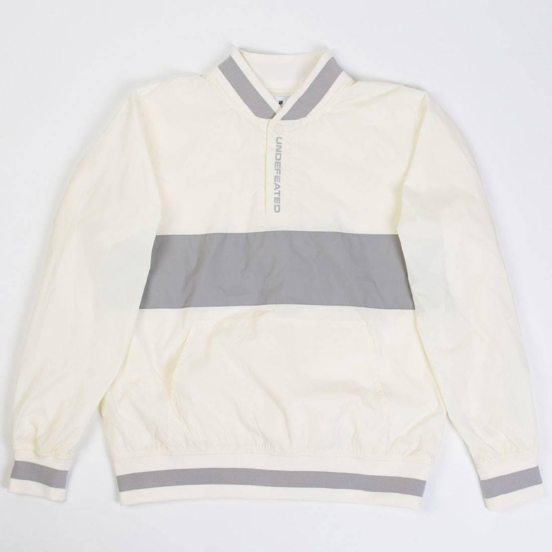 Undefeated Men Nylon Pullover Jacket (white)