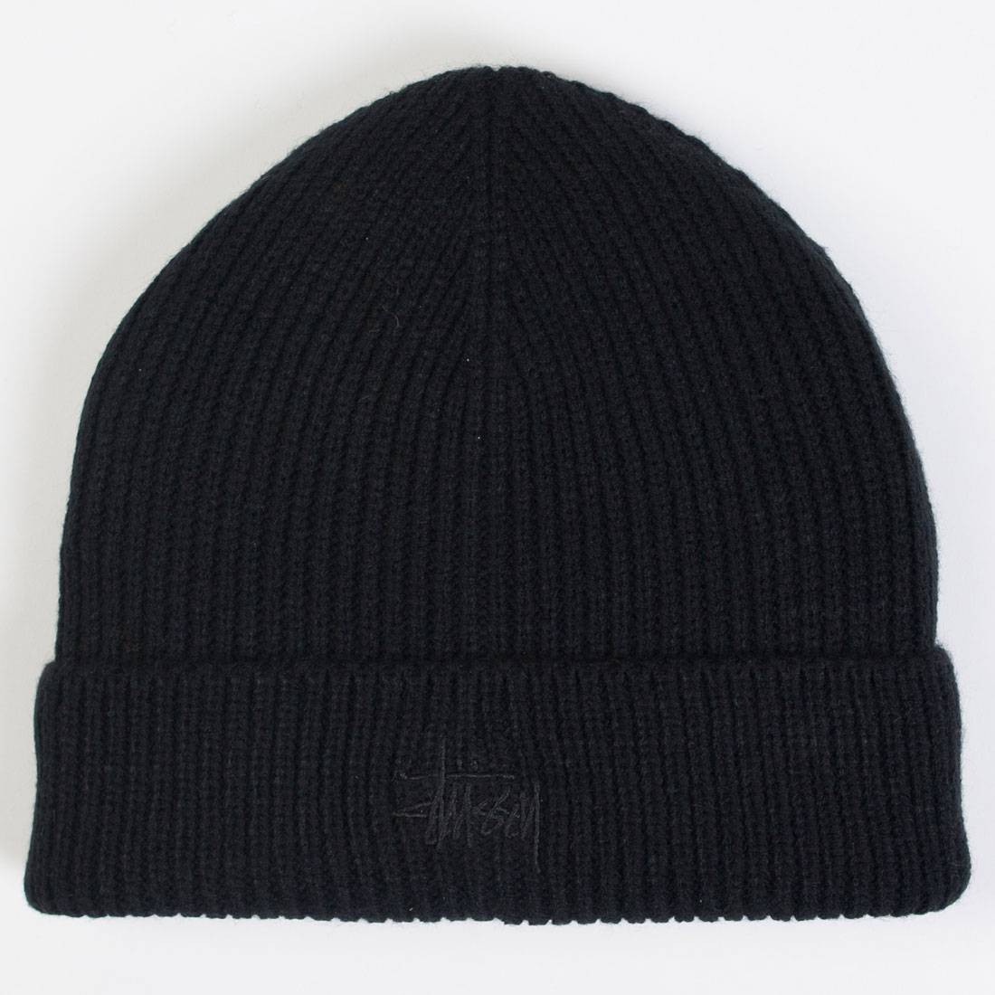 Stussy Tonal Basic Cuff Beanie (black)