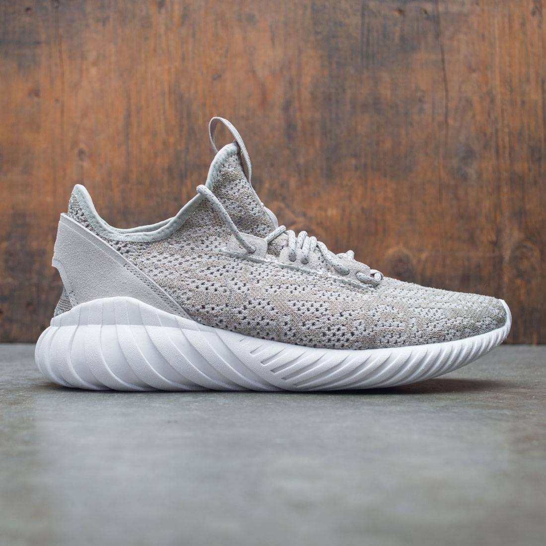 reputable site 8887c 635bb Adidas Men Tubular Doom Sock Primeknit (beige / sesame / crystal white)