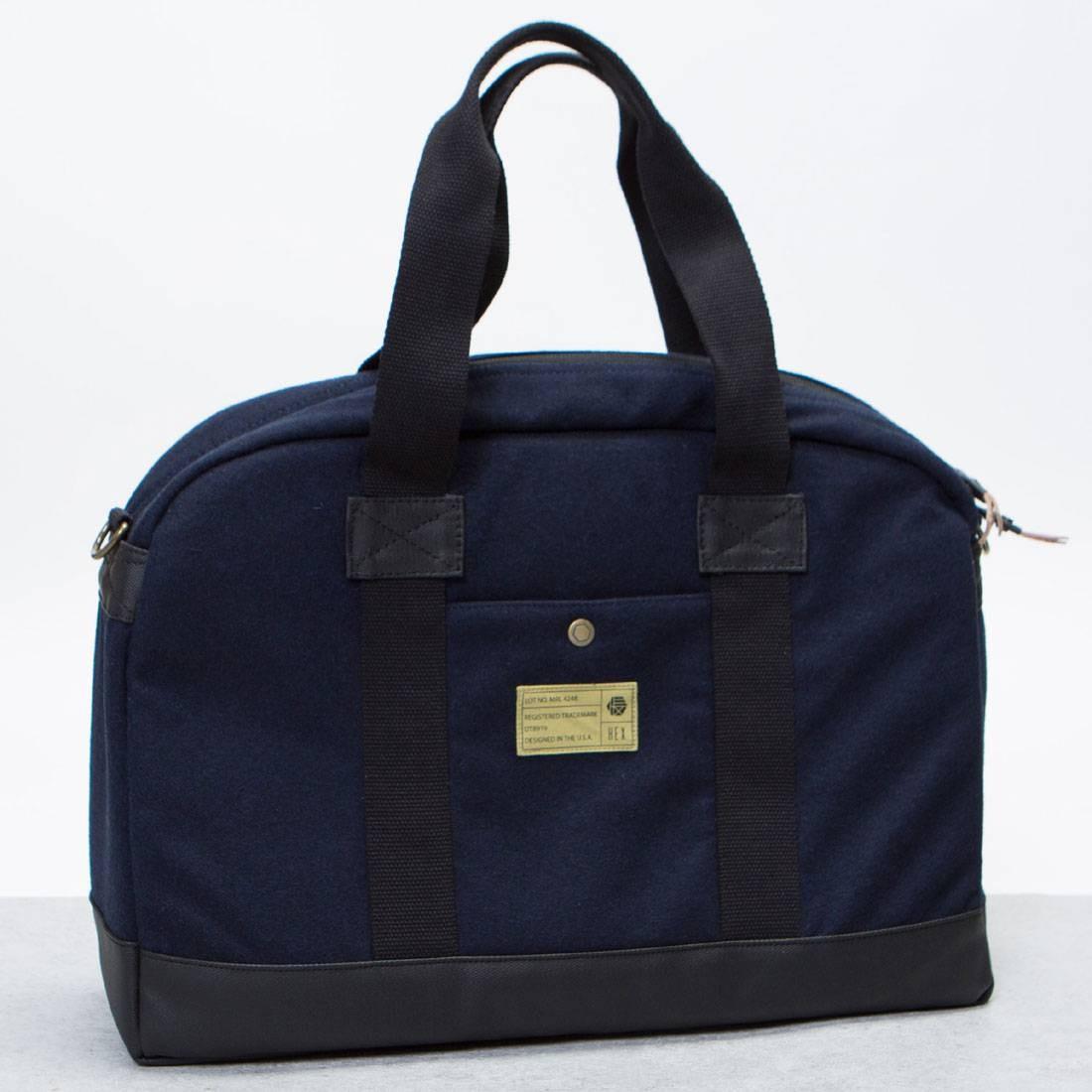 Hex Laptop Duffel Bag (navy / wool)