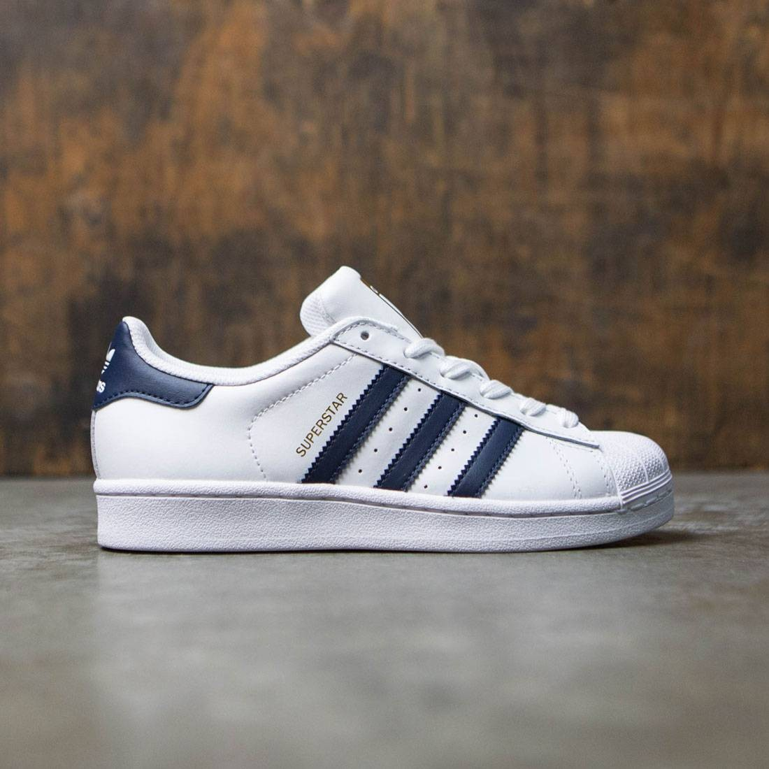 Adidas Women Superstar (white collegiate navy gold metallic)