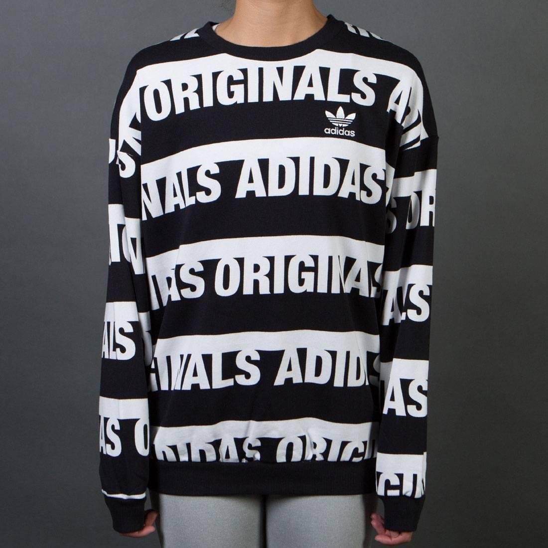 adidas Originals adidas Originals Trefoil Crew Sweatshirt (Black) Women's Sweatshirt from Zappos   ShapeShop