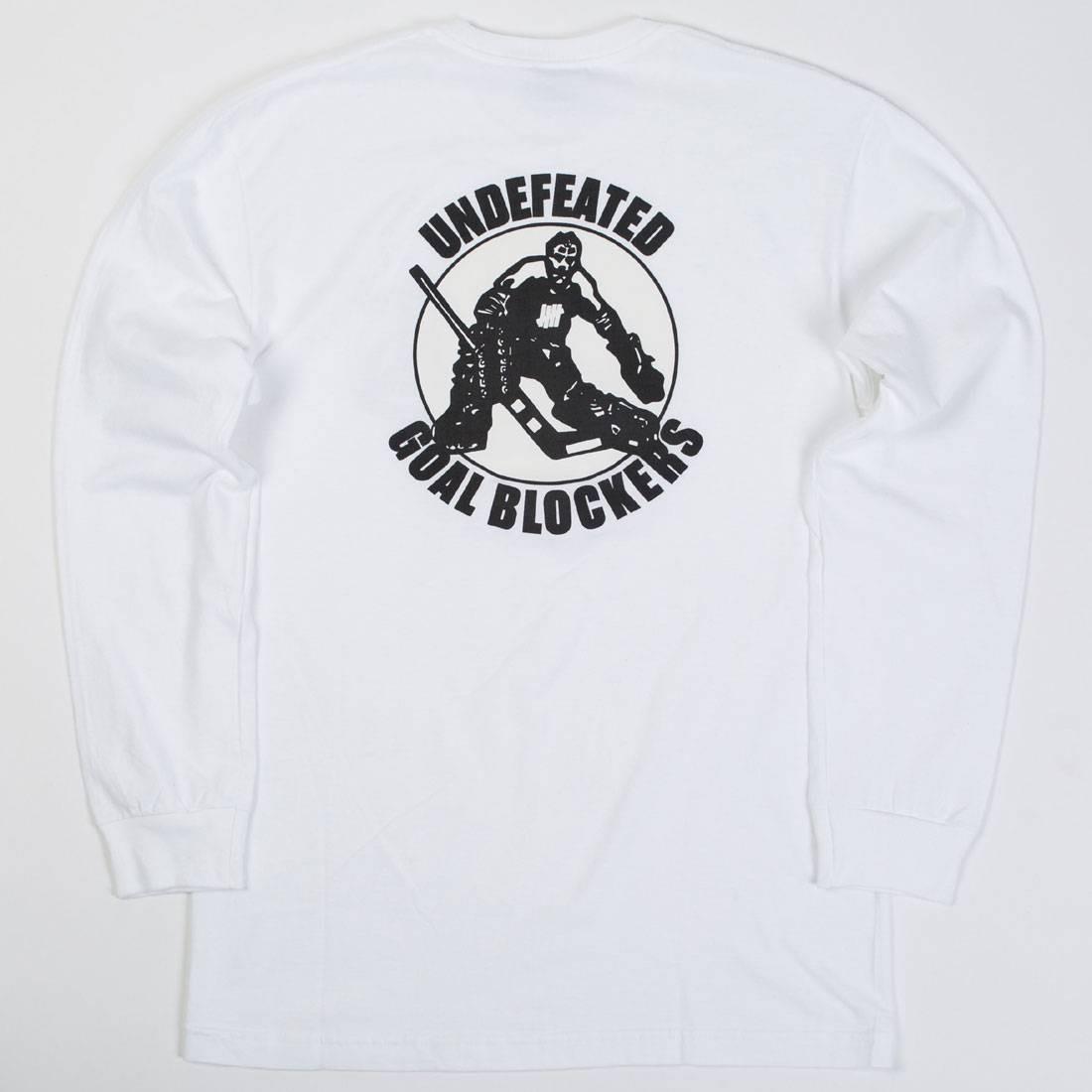 Undefeated Men Goal Blockers LS Tee (white)