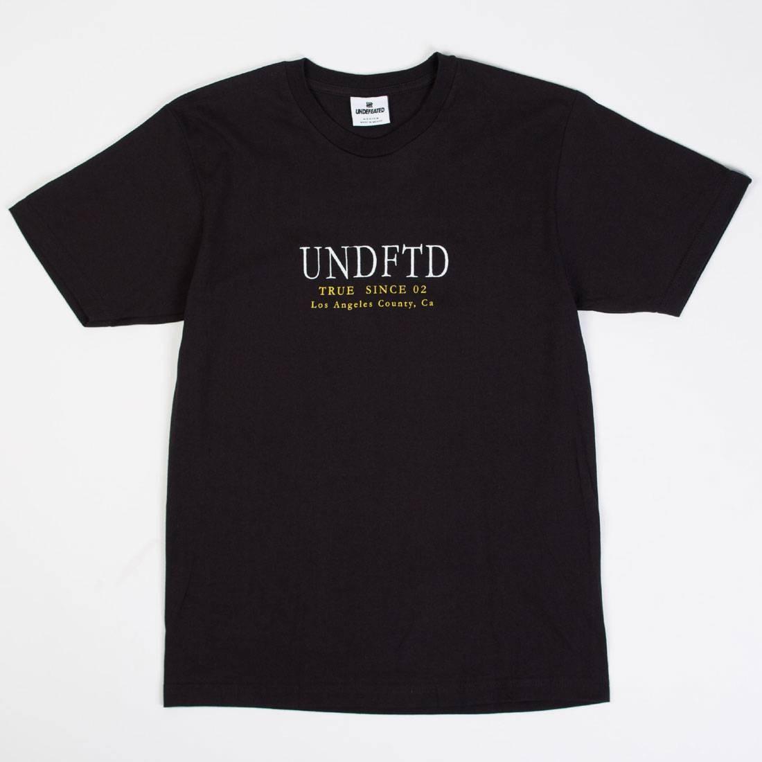 Undefeated Men True Since 02 Tee (black)
