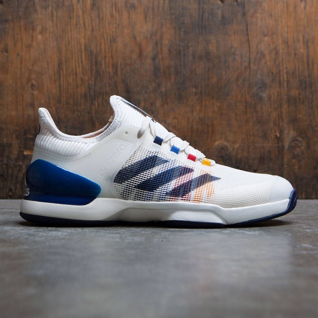 f09bb5bdb Adidas x Pharrell Williams Men Adizero Ubersonic 2 white chalk white dark  blue scarlet