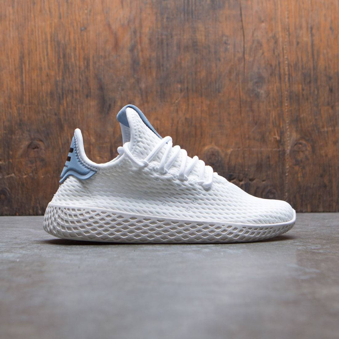 09206bd359129 Adidas x Pharrell Williams Big Kids Tennis HU J white footwear white  tactile blue