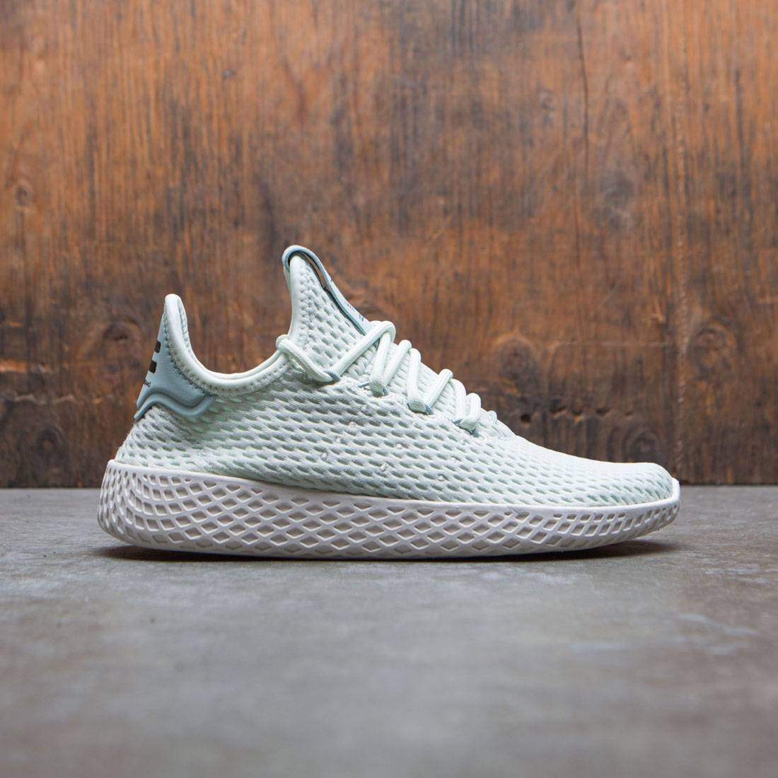 31d18d3bc87 Adidas x Pharrell Williams Big Kids Tennis HU J green linen green footwear  white