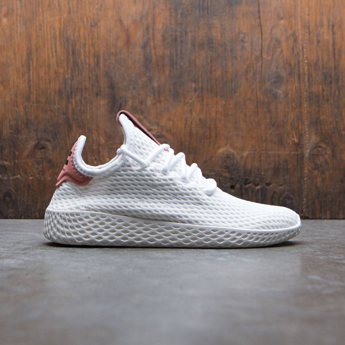 new style e3129 0bddf Adidas x Pharrell Williams Big Kids Tennis HU J white footwear white raw  pink