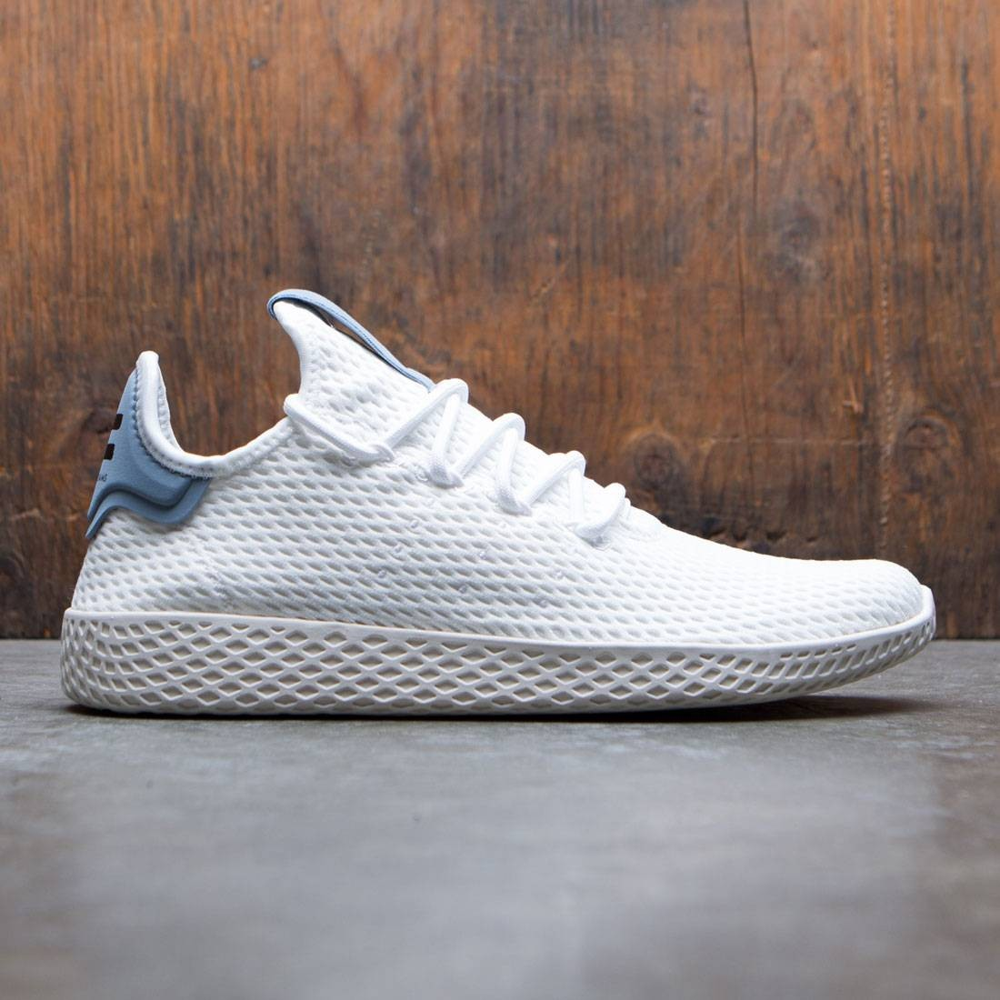sale retailer 5abe3 7300c Adidas x Pharrell Williams Men Tennis HU white footwear white tactile blue