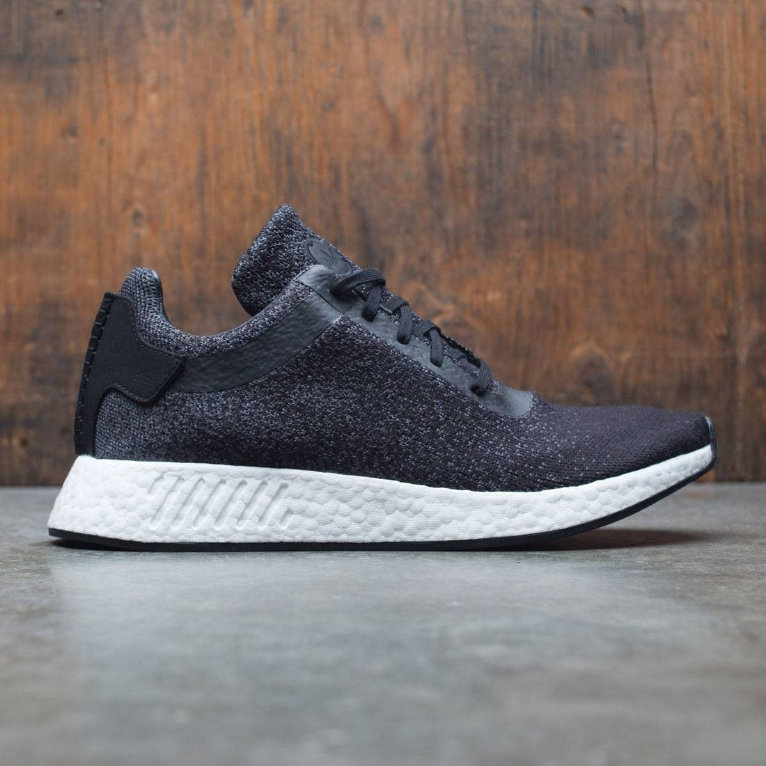 ed8416edf Adidas x Wings + Horns Men NMD R2 Primeknit black utility black grey