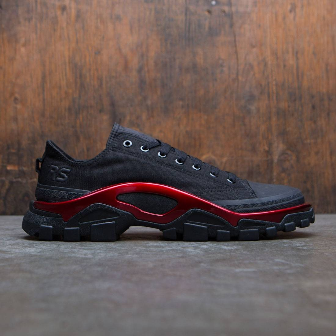 Adidas x Raf Simons Men New Runner (black / scarlet / core black)