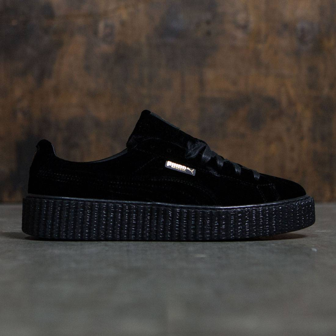 61bc63cac417 Puma x Fenty By Rihanna Men Creeper Velvet black velvet