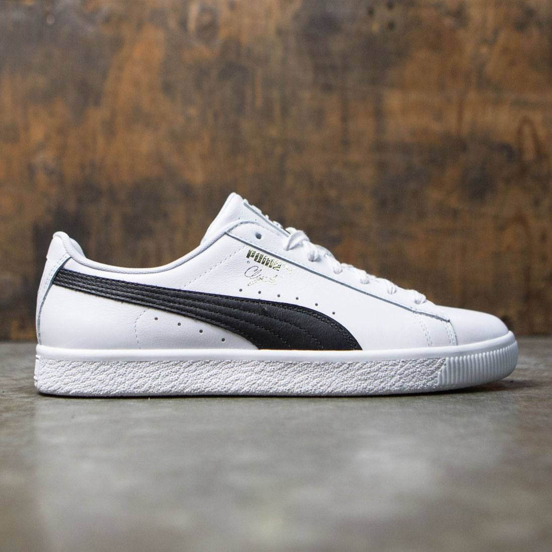 en soldes d6c33 ea954 Puma Men Clyde Core - Leather Foil (white / black)