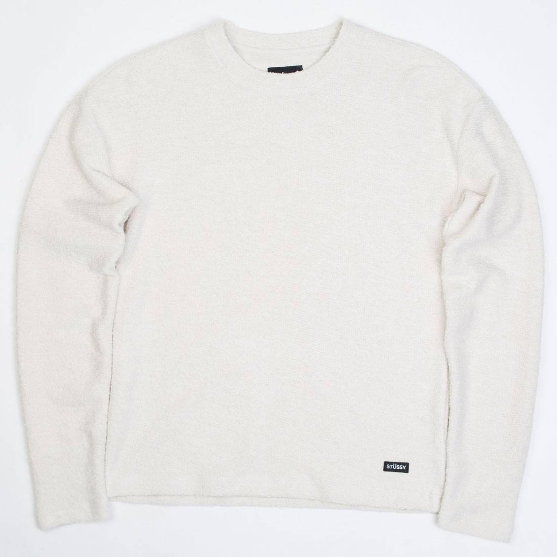 Stussy Women Swan Long Sleeve Sweater (white / natural)