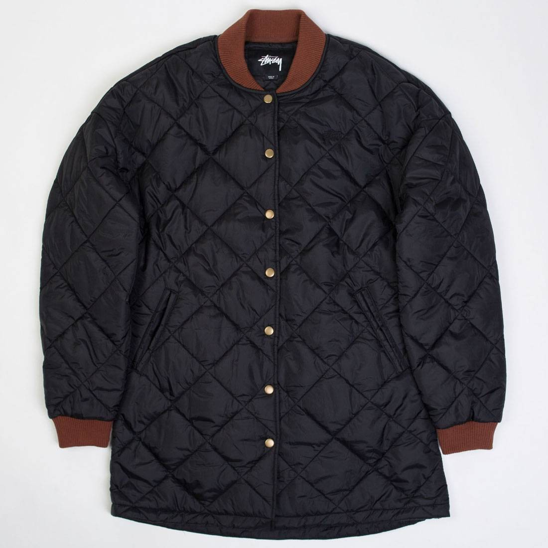 Stussy Women Barriers Quilted Jacket (black)