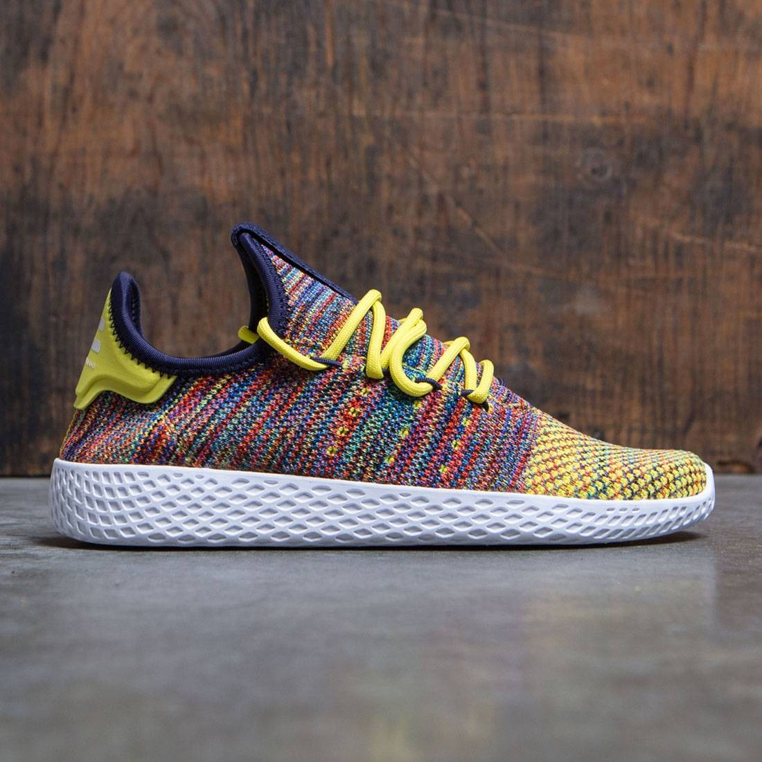 Adidas x Pharrell Williams Men Tennis HU (yellow noble ink semi frozen yellow footwear white)
