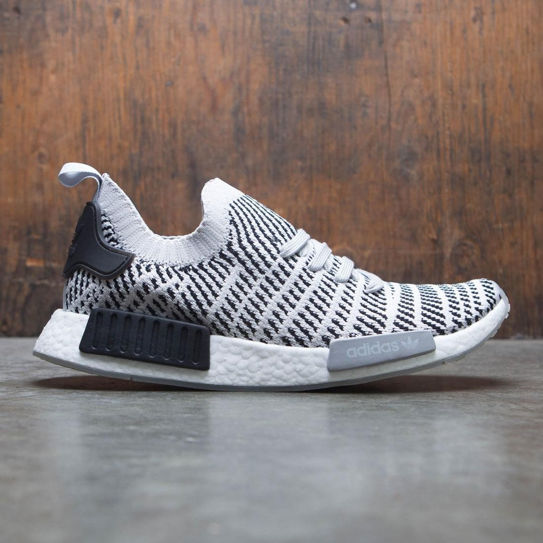 Adidas Men Nmd R1 Stlt Primeknit Gray Grey One Core Black