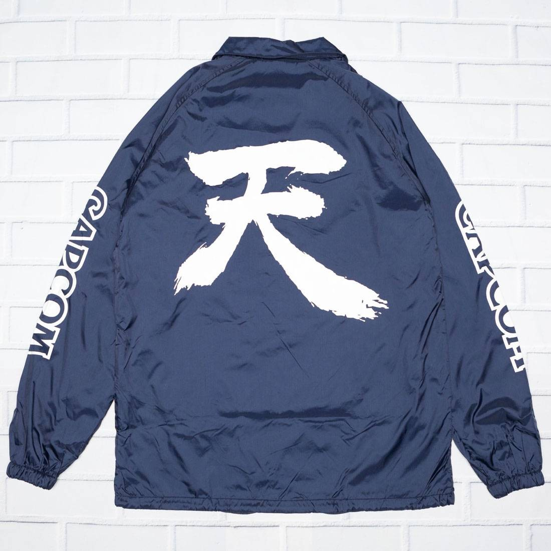 BAIT x Street Fighter Men Akuma Symbol Jacket (navy)