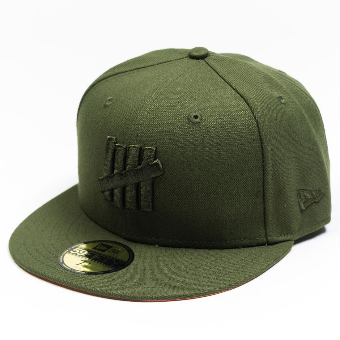 Undefeated x New Era Eject Fitted Cap green olive f7b4aa37911