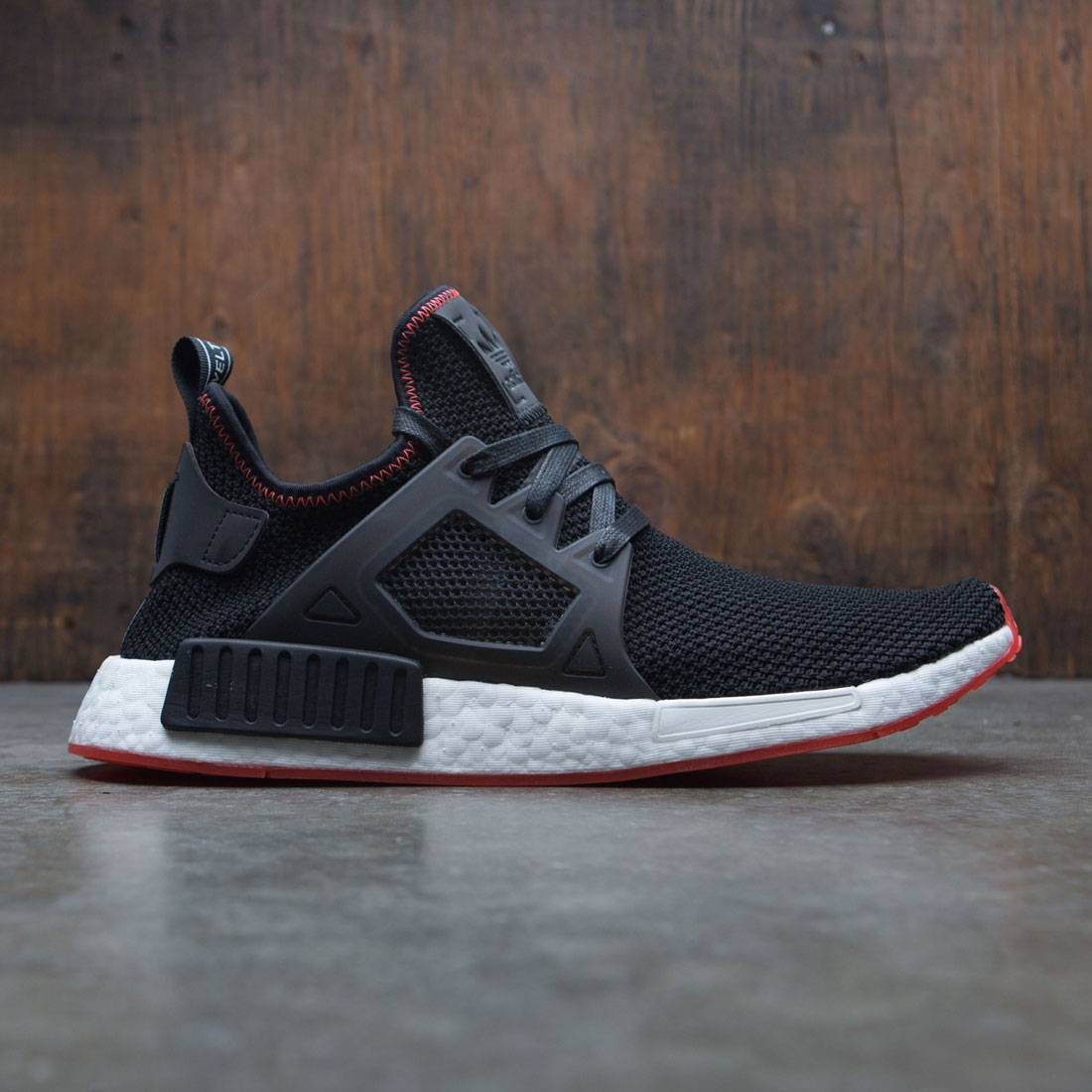best website 4d266 dce4a Adidas Men NMD XR1 black core black solar red