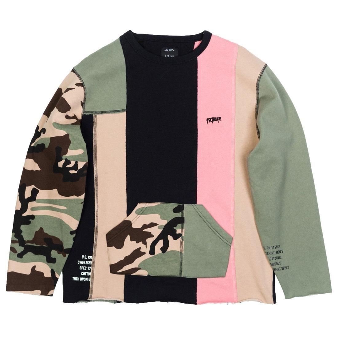 10 Deep Men Many Wars Crewneck Sweater (camo / multi)