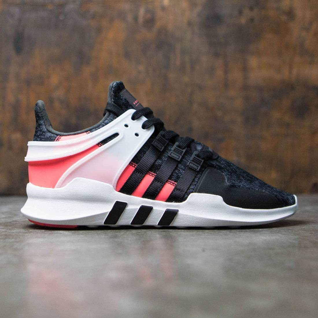pretty nice 8aff7 da95a adidas men eqt support adv black core black turbo red