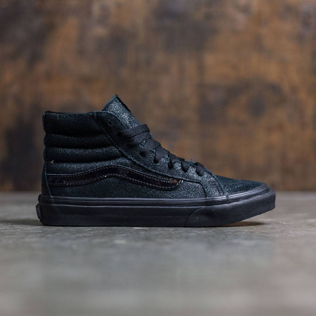 c0aeb9367a Vans Women SK8-Hi Slim - Patent Crackle black black