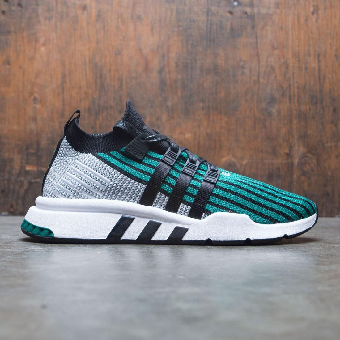 buy online 9c191 d56e3 Adidas Men EQT Support Mid ADV Primeknit (black / core black / sub green)
