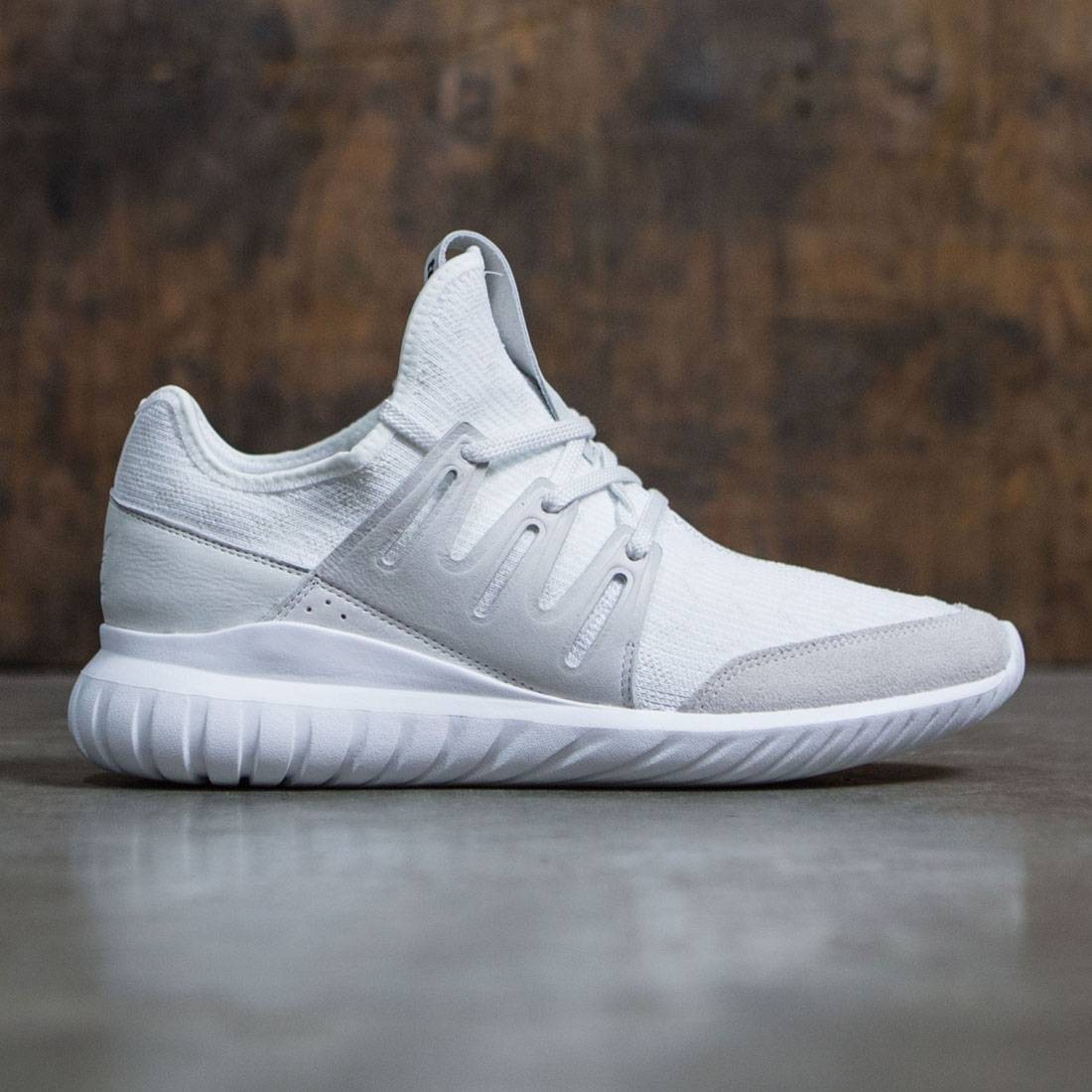 d0fad0d28cd Adidas Men Tubular Radial Primeknit white vintage white footwear white core  black