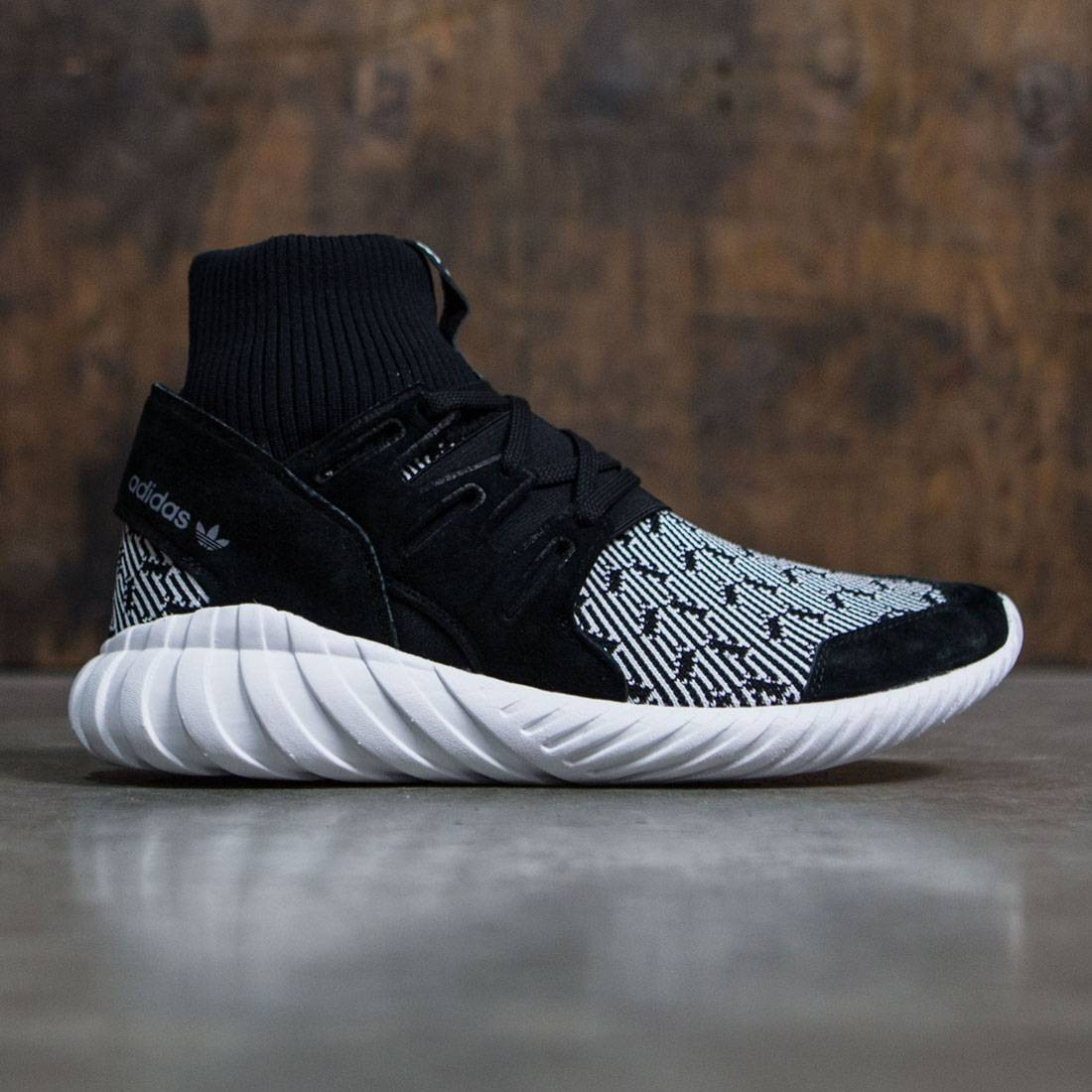 f22d7f7cdc52 Adidas Men Tubular Doom black core black vintage white