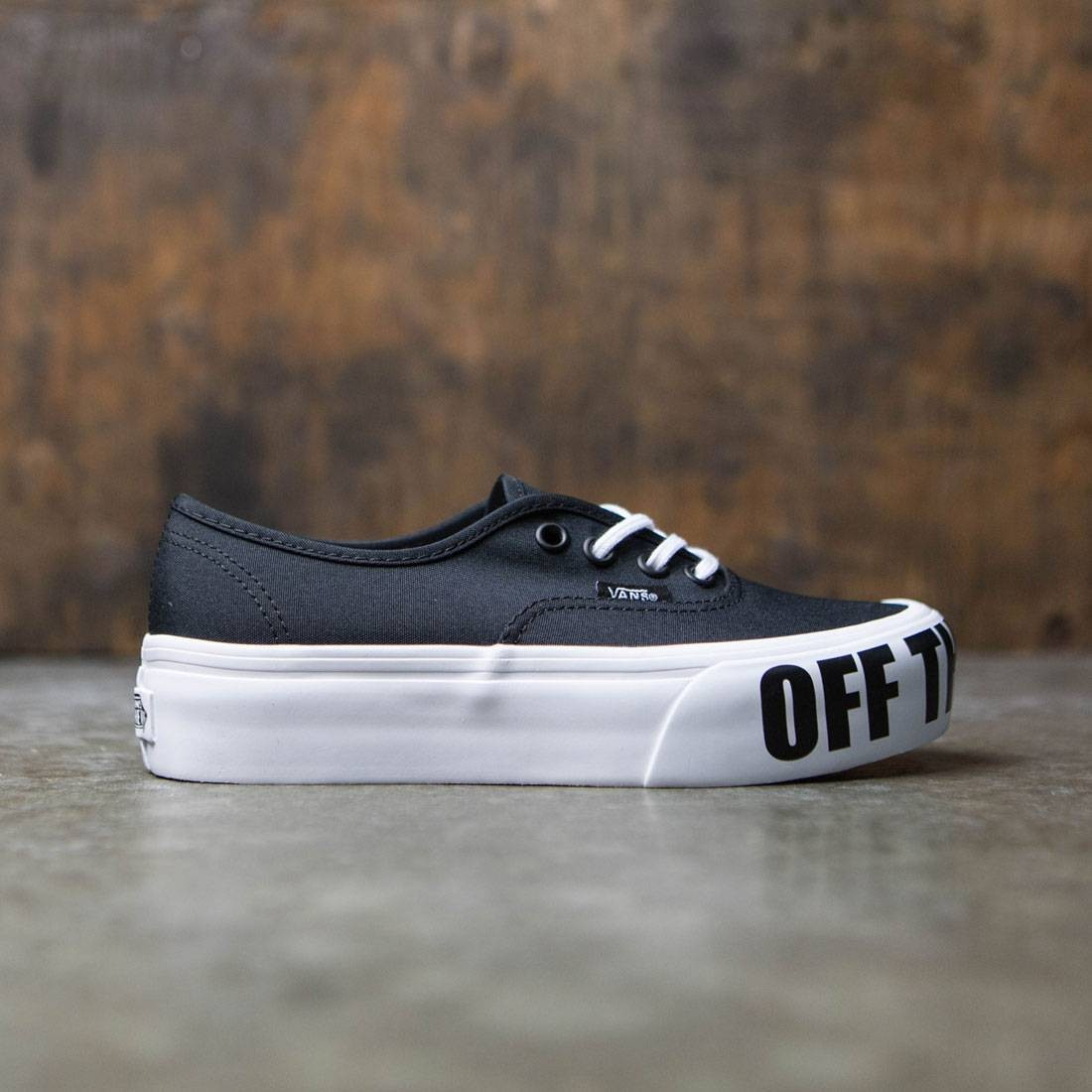 3d11091d3b6 Vans Women Authentic Platform 2.0 - Off The Wall black