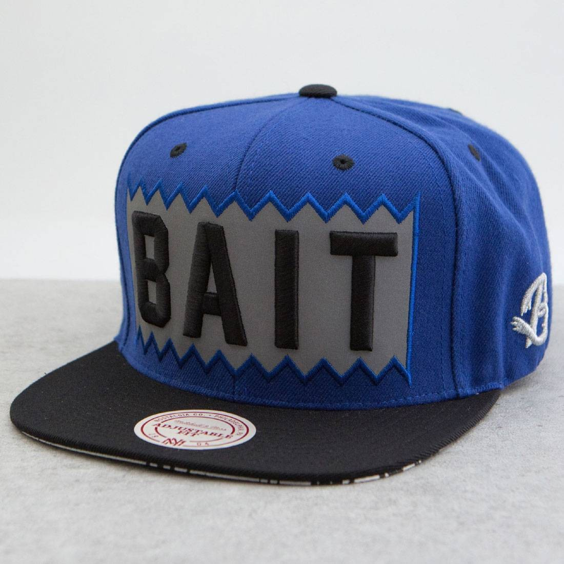 BAIT x Mitchell And Ness Box Logo Snapback Cap - 3M (royal / black)