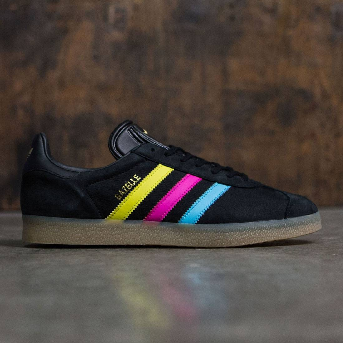 Adidas Men Gazelle black bright cyan shock pink 200d107db