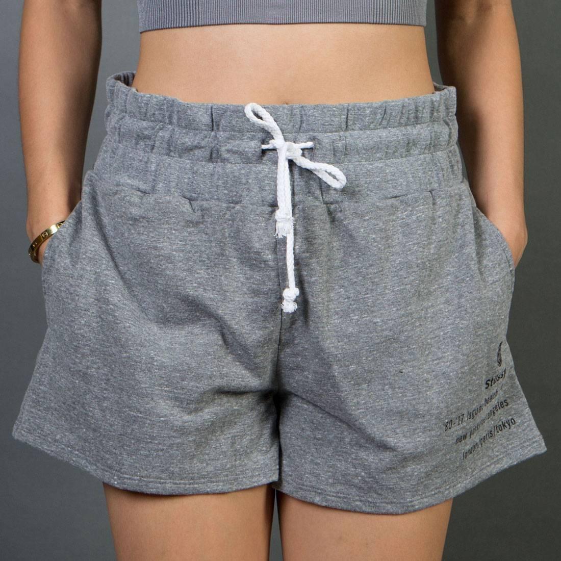 Stussy Women 80 17 Gym Shorts gray heather
