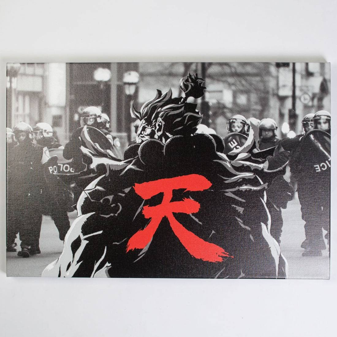BAIT x Street Fighter Akuma Snapshot 24 x 30 In Canvas Art Print (black)